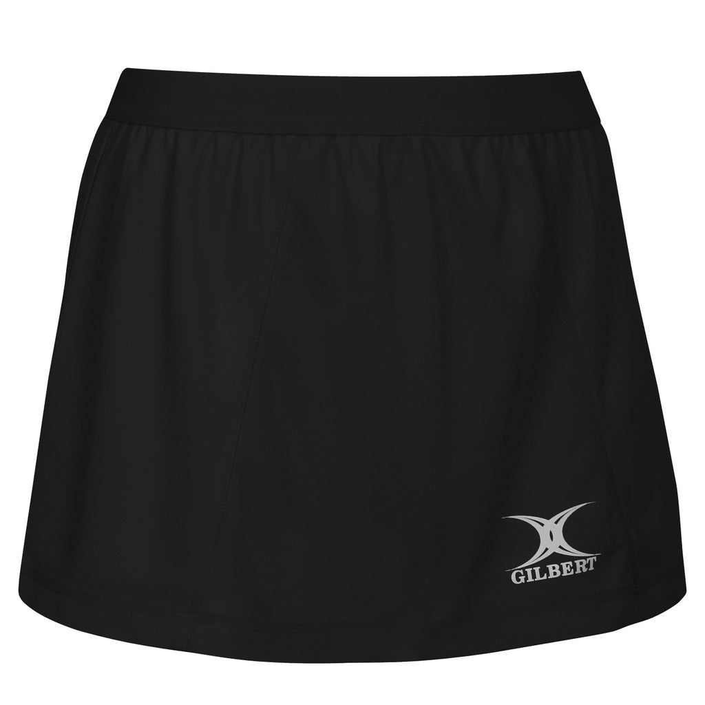 Gilbert Blaze Skort Black (Junior) - Nutz About Netball
