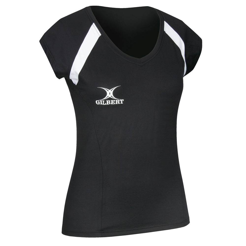 Gilbert Helix Netball Top - Black - Nutz About Netball