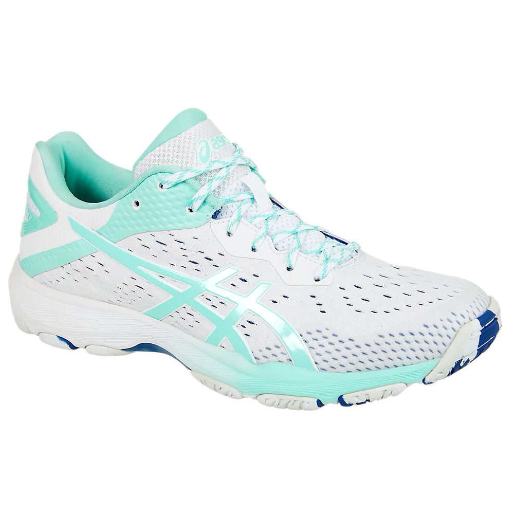 ASICS Netburner Professional FF2 White/Fresh Ice Netball Trainers - Nutz About Netball