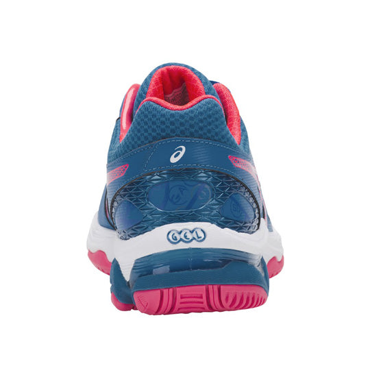 ASICS Gel Netburner Academy 7 Navy/Diva Pink Netball Trainers - Nutz About Netball