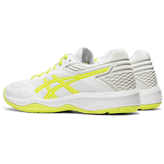 ASICS Netburner Ballistic FF White/Sour Yuzu Netball Trainers - Nutz About Netball