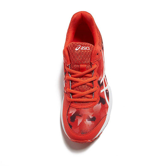 ASICS Gel Netburner Professional GS Firey Red Junior Netball Trainers - Nutz About Netball