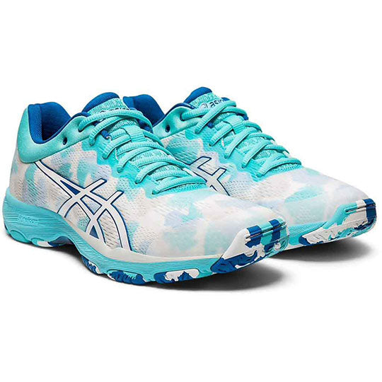 ASICS Netburner Professional FF White/White Netball Trainers - Nutz About Netball