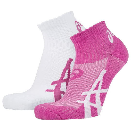 ASICS Women's 2 Pair Socks Pink/White - Nutz About Netball