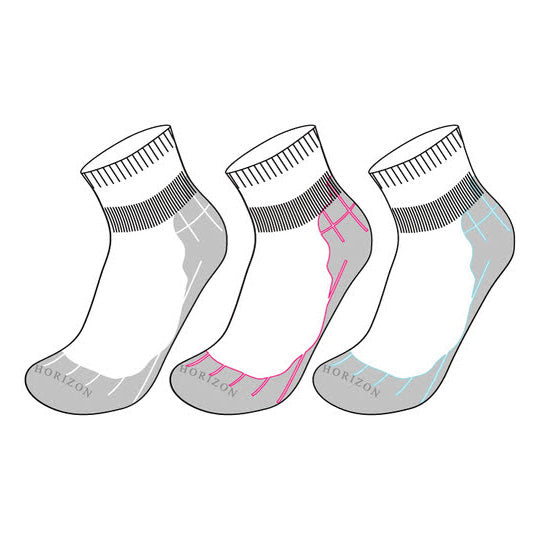 Horizon Coolmax Quarter Socks (1 Pair) - Nutz About Netball