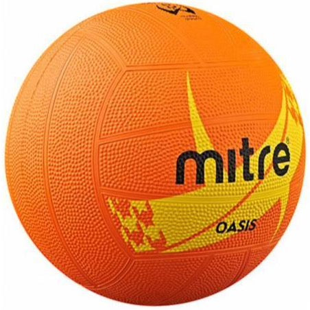 Mitre Orange Oasis Netball - Nutz About Netball