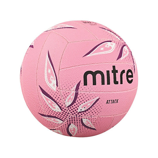 Mitre Attack Pink Netball Size 4 - Nutz About Netball