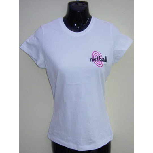 Nutz About Netball Logo T-Shirts - Small Netball White - Nutz About Netball