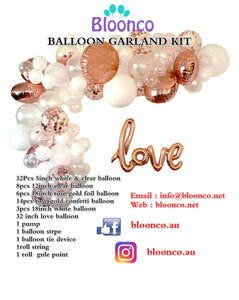 Rose Gold and White Balloon Garland - Live Shopping Tours
