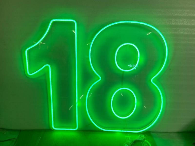 18th Neon sign Hire - Live Shopping Tours