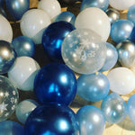 Blue frozen balloon garland kit - Live Shopping Tours