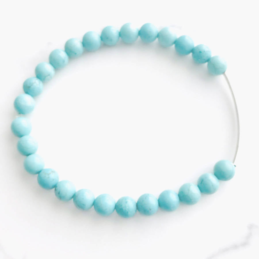 Turquoise Sterling Silver Bar Stretch Bracelet - Live Shopping Tours