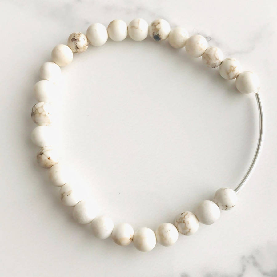 Natural Agate Sterling Silver Stretch Bracelet - Live Shopping Tours