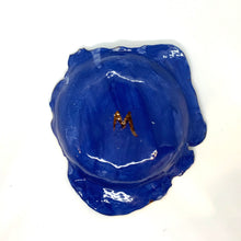 Load image into Gallery viewer, Caribbean Blue Crocodile Embossed Porcelain Dish