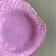 Load image into Gallery viewer, Lavender Crocodile Embossed Porcelain Dish 4.5""