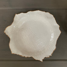 Load image into Gallery viewer, Crocodile Embossed Porcelain Dish 9""