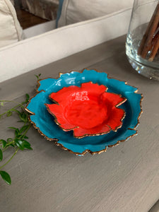 Bright Red Porcelain Dishes