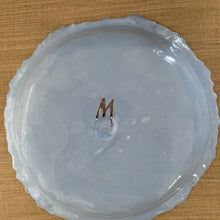 Load image into Gallery viewer, Periwinkle Crocodile Embossed Porcelain Dish 9""