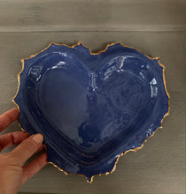 Load image into Gallery viewer, Denim Blue Porcelain Heart 8'x6""