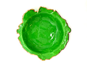Kelly Green Porcelain Dishes