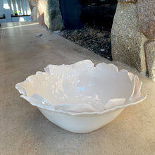 "Load image into Gallery viewer, Large Bowl - Pure White 11"" diameter"
