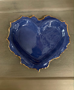 Denim Blue Porcelain Heart 8'x6""