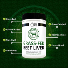 Load image into Gallery viewer, Beef Liver Capsules by Best Bone Broth (120 Capsules Per Bottle) - Freeze Dried Pure Grass-Fed Formula Beef Liver Supplements