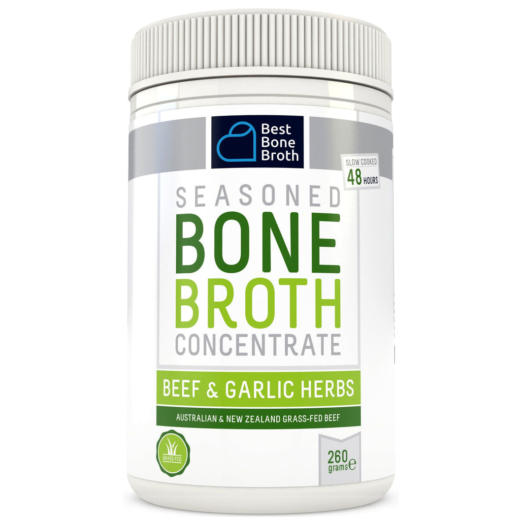 260g - Garlic Herbs & Beef Bone Broth