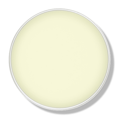 An opened tin of Zeus Pomade Natural Hair Wax