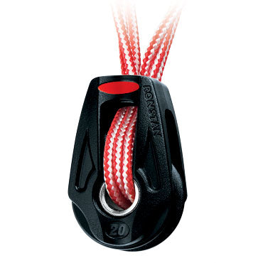 Polea simple Ronstan BB Orbit de 20 mm, arraigo de amarre Dyneema®