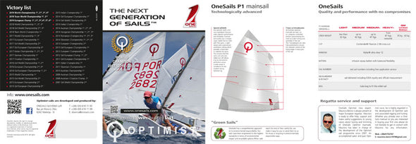 OneSails OPTIMIST Main P1 - Heavy+ (>47 kg)