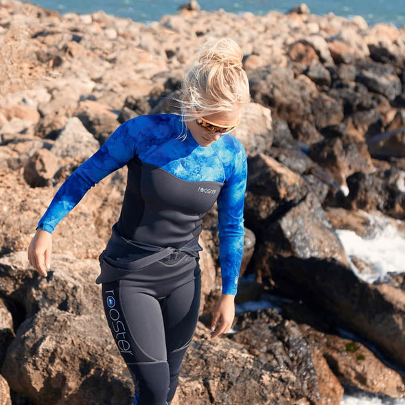 rooster sailing female neoprene top