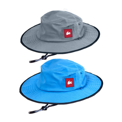 sailing sun hat blue and grey