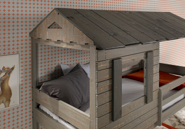 Darlene Rustic Gray Twin/Twin Bunk Bed image