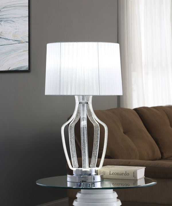 Mathilda Clear Acrylic & Chrome Table Lamp image