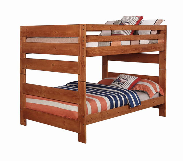 Wrangle Hill Amber Wash Full-over-Full Bunk Bed image