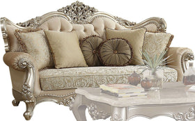 Acme Furniture Bently Sofa with 7 Pillows in Champagne 50660
