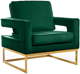 Noah Green Velvet Accent Chair