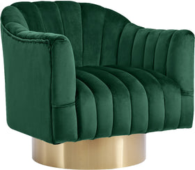 Farrah Green Velvet Accent Chair