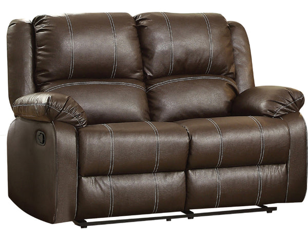 Acme Furniture Zuriel Motion Loveseat in Brown 52281 image
