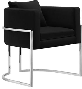 Pippa Black Velvet Accent Chair