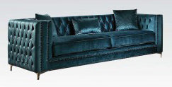 Acme Gillian Sofa in Dark Teal Velvet 52790 image