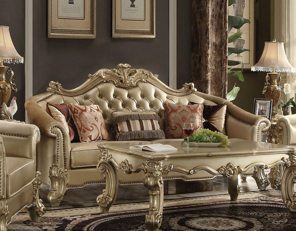 Acme Dresden Sofa in Gold Patina 53120 image