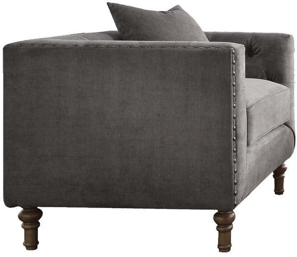 Acme Furniture Sidonia Arm Chair in Gray Velvet 53582 image