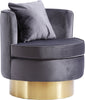 Kendra Grey Velvet Accent Chair