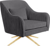Paloma Grey Velvet Accent Chair