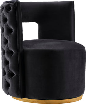 Theo Black Velvet Accent Chair