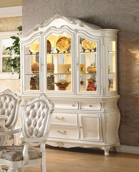 Acme Chantelle Buffet and Hutch in Pearl White 63544