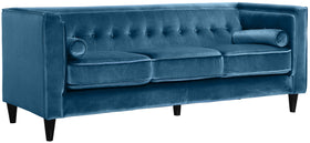 Taylor Light Blue Velvet Sofa