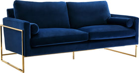 Mila Black Velvet Sofa
